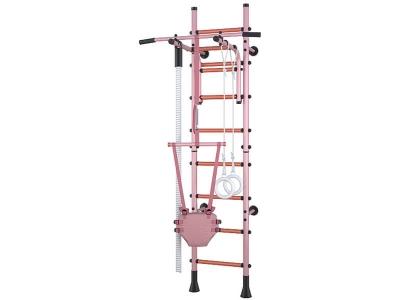 Детский спортивный комплекс Polini Sport Turbo пристенный, розовый