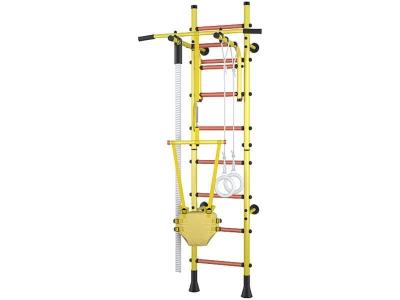 Детский спортивный комплекс Polini Sport Turbo пристенный, жёлтый