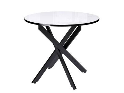 Стол Dikline Rs90 черный/стекло белое
