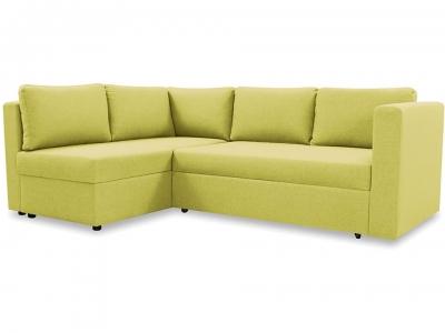 Диван угловой большой, левый Онтарио Romeo 07 зелёный