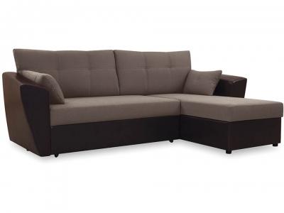 Диван угловой Борнео Concept 10 коричневый, Neo 12 коричневый