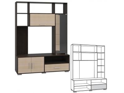 Шкаф комбинированный Домино 7-02 К 1590х530х2118
