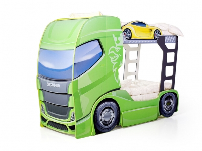 Кровать-грузовик Скания+2 лайм