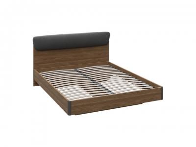 Двуспальная кровать Харрис тип 2 СМ-302.01.003 Дуб американский, Серебряный гранит
