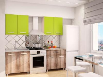 Модульная кухня Эконом Лайм-Дуб Сакраменто темный