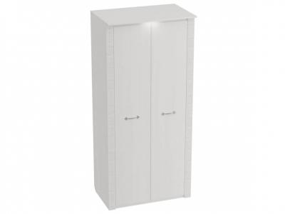 Шкаф 2-дверный Элана с подсветкой 1010х645х2185 Бодега белая