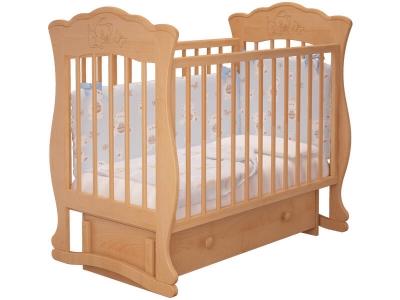 Кровать детская Елена - 3 маятник с ящиком Бук
