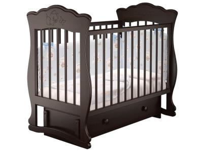 Кровать детская Елена - 3 маятник с ящиком Венге