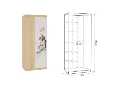 Шкаф 2-створчатый Энерджи