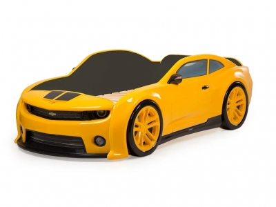 Кровать-машина Evo Камаро желтая