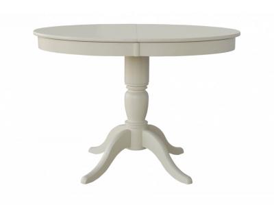 Стол овальный из дерева Фламинго 6 слоновая кость