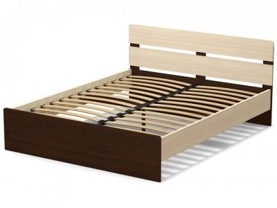 Кровать 160 Эксон с основанием Дуб млечный - Венге