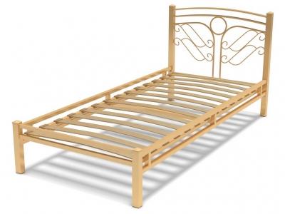 Кровать 90 Фантазия-2 металлическая Крем