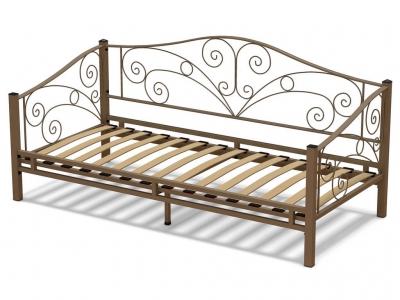 Кровать 90 Лаура металлическая Капучино