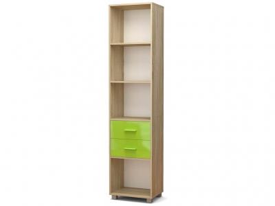 Стеллаж Максим с ящиками Дуб сонома - МДФ Зелёное яблоко