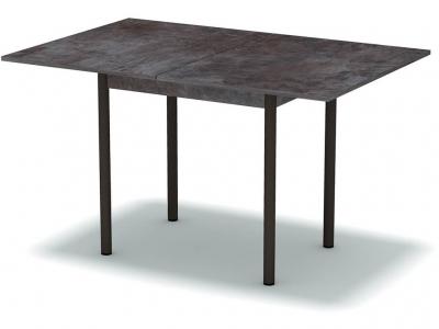 Стол обеденный раскладной Тёмный камень - ноги чёрные