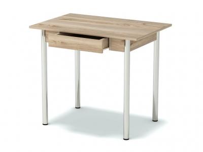 Стол обеденный с ящиком Невис - ноги хром
