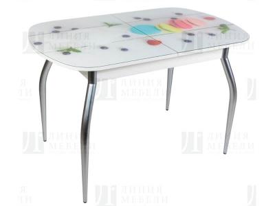 Стол обеденный со стеклом Голд Макаронс