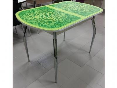 Стол обеденный со стеклом Голд Лайм Сакура