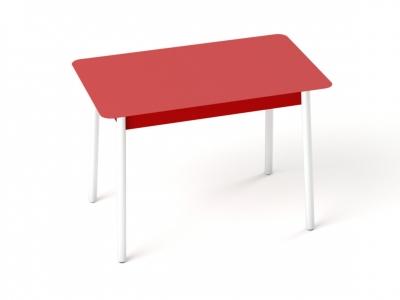 Стол с матовым стеклом Хайп Красный