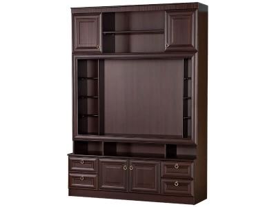 Шкаф 603 1600х468х2248 нна денвер темный