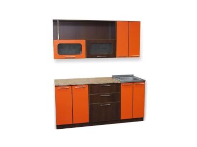 Кухонный гарнитур Ирбея 1.7 оранжевый