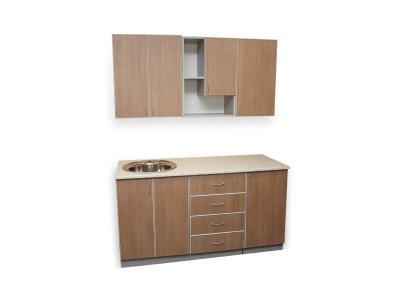 Кухонный гарнитур Ирбея 4.5 темный древесный