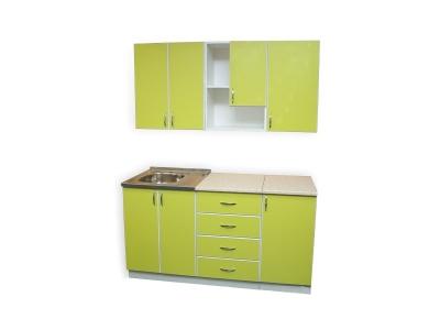 Кухонный гарнитур Ирбея 4.5 зеленый