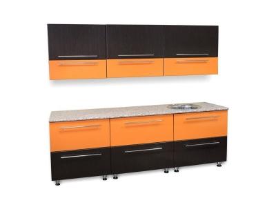 Кухонный гарнитур Ирбея 5.2.4 МДФ венге-оранжевый