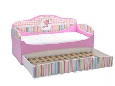 Диван-кровать Mia Розовый с дополнительным спальным местом