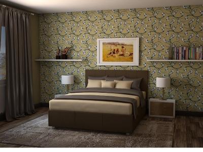 Кровать Julia коричневая
