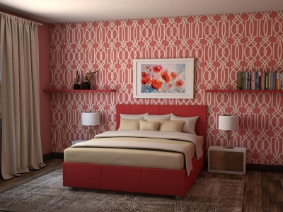 Кровать Julia красная