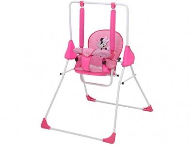 Качели Polini kids Disney baby Минни Маус с вышивкой, розовый