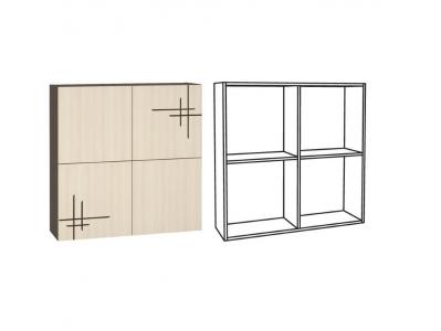 Шкаф навесной арт1 Киото 904 К 960х282х960