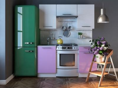 Кухня Комфорт Выбеленное дерево-Фиолетовый