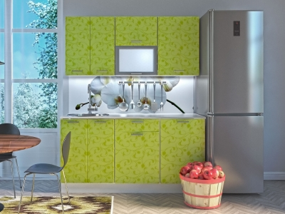 Кухня Комфорт Лайм цветы