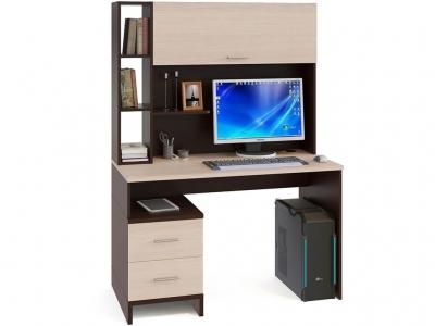 Компьютерный стол Сокол КСТ-114 c надстройкой Венге/Беленый дуб
