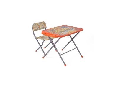 Комплект детской мебели Фея Досуг 201 Алфавит оранжевый