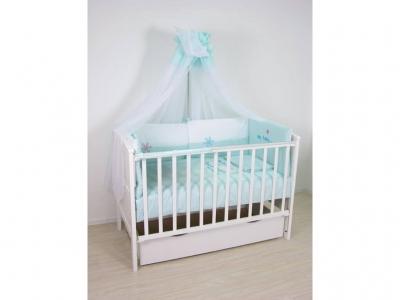 Комплект в кроватку 140х70 Fairy Белые кудряшки 7 предметов