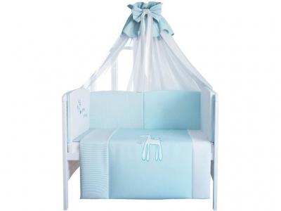 Комплект в кроватку 140х70 Fairy Жирафик 7 предметов