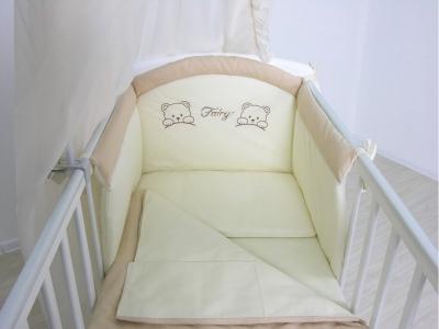 Комплект в кроватку Fairy 4 предмета полулен