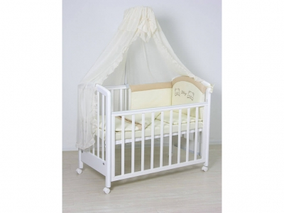 Комплект в кроватку Fairy 7 предметов полулен
