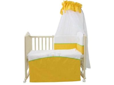 Комплект в кроватку Fairy Волшебная полянка 7 предметов, жёлтый