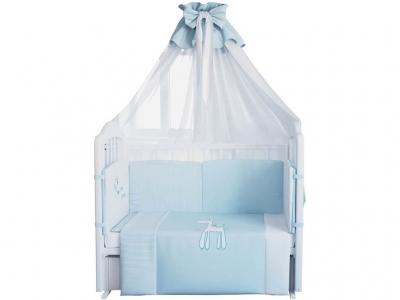 Комплект в кроватку Fairy Жирафик 7 предметов, голубой