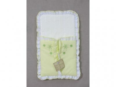 Конверт на выписку Fairy Белые кудряшки, зелёный