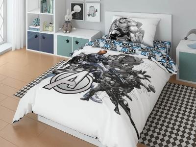 Комплект постельного белья Marvel 1,5СП Avengers black (арт. 7247635)