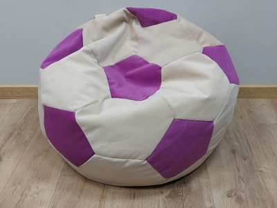 Кресло-мешок Мяч M кат. 2 nice vanilla-shaggy fuchsia
