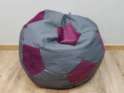 Кресло-мешок Мяч M кат. 2 twist black-shaggy wine