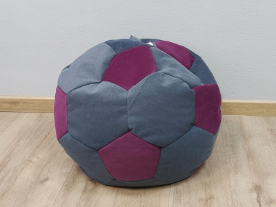 Кресло-мешок Мяч S кат. 2 shaggy grafit-shaggy wine