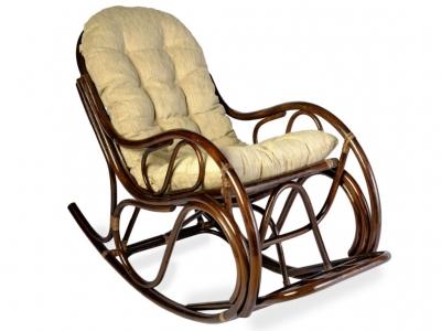 Кресло-качалка 05/04 с толстой подушкой темно-коричневый
